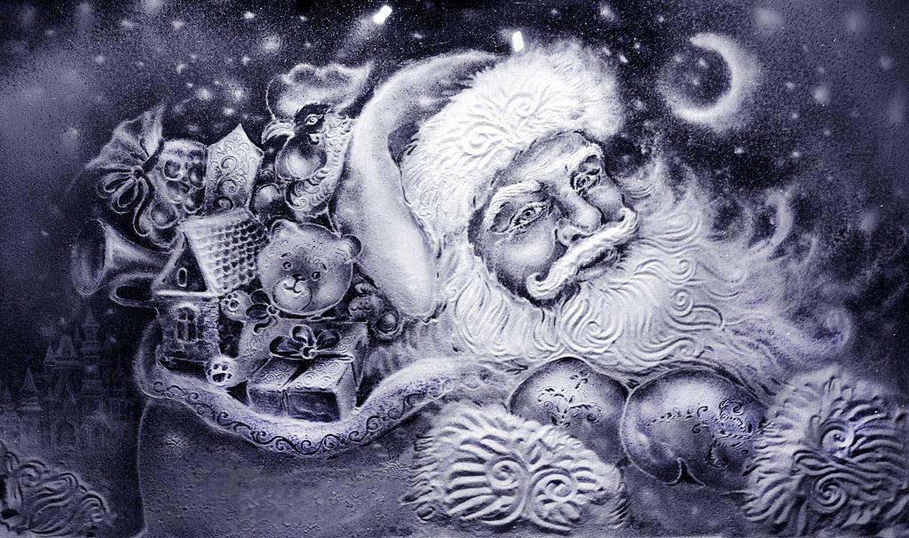 SANDMALEREI WEIHNACHTEN Santa