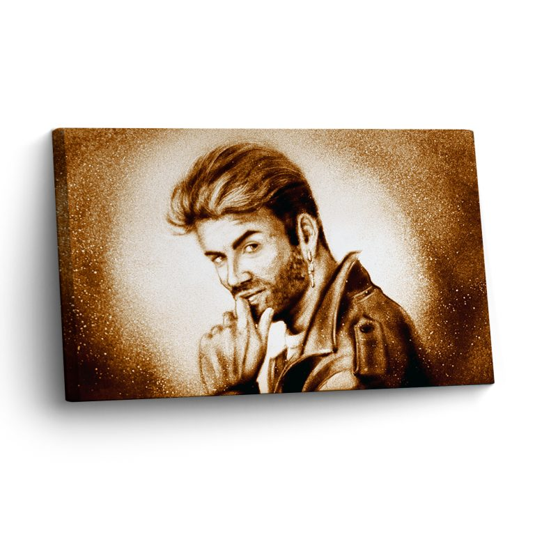 Sandkunst Portrait George Michael