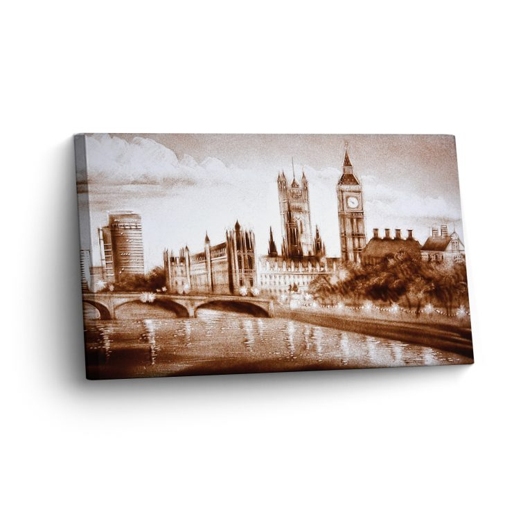 London in Sand Gemalt