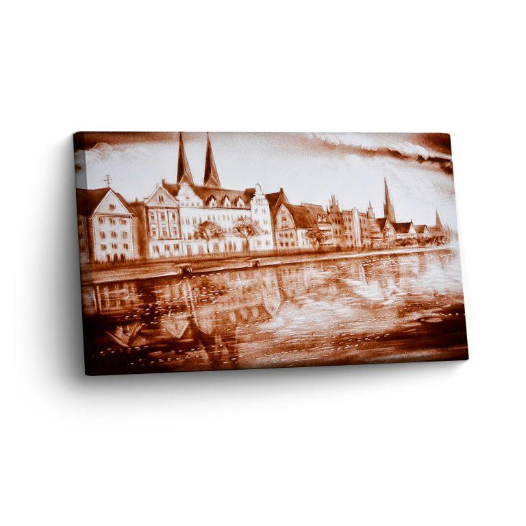 Lübeck in Sand Gemalt