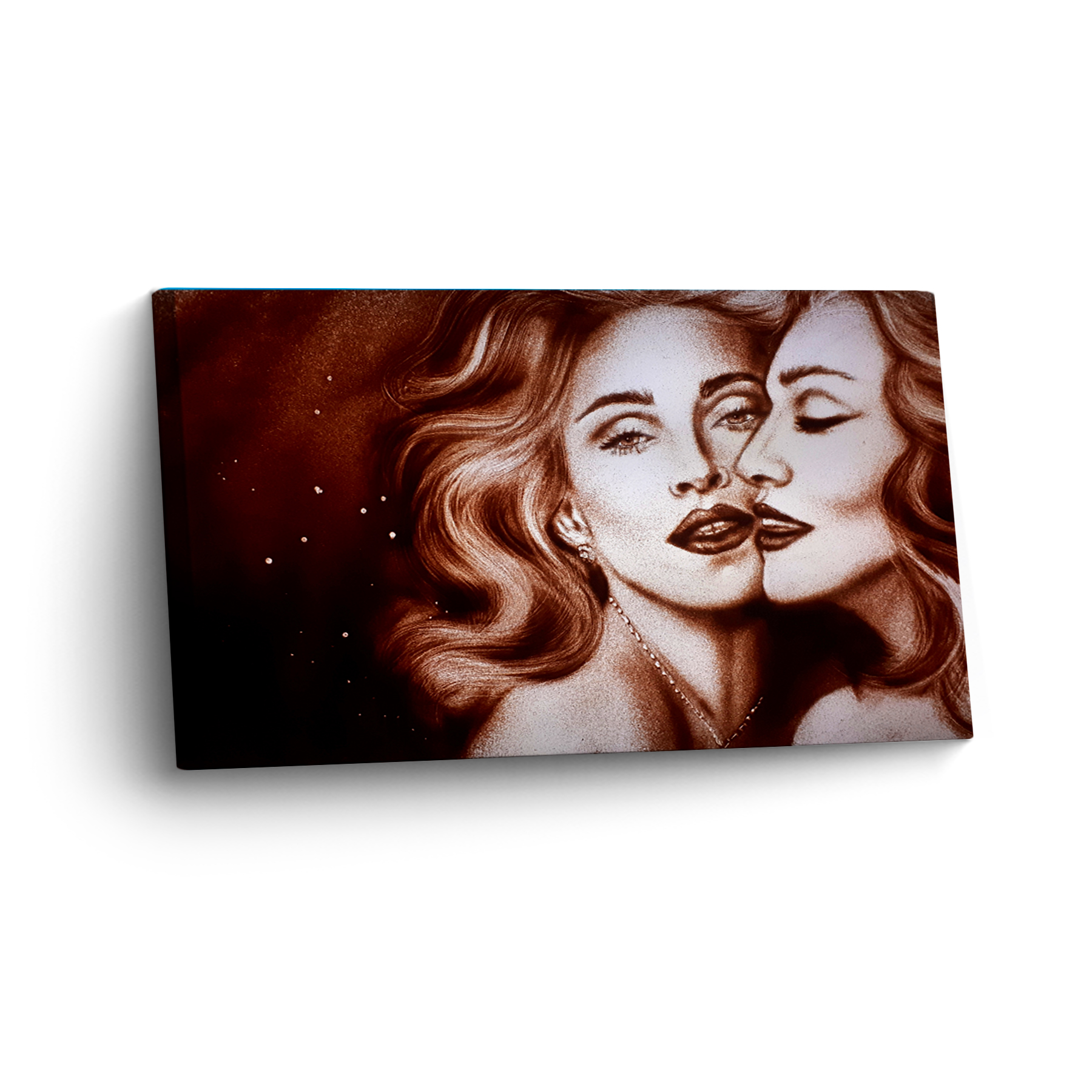 Madonna in Sand gemalt