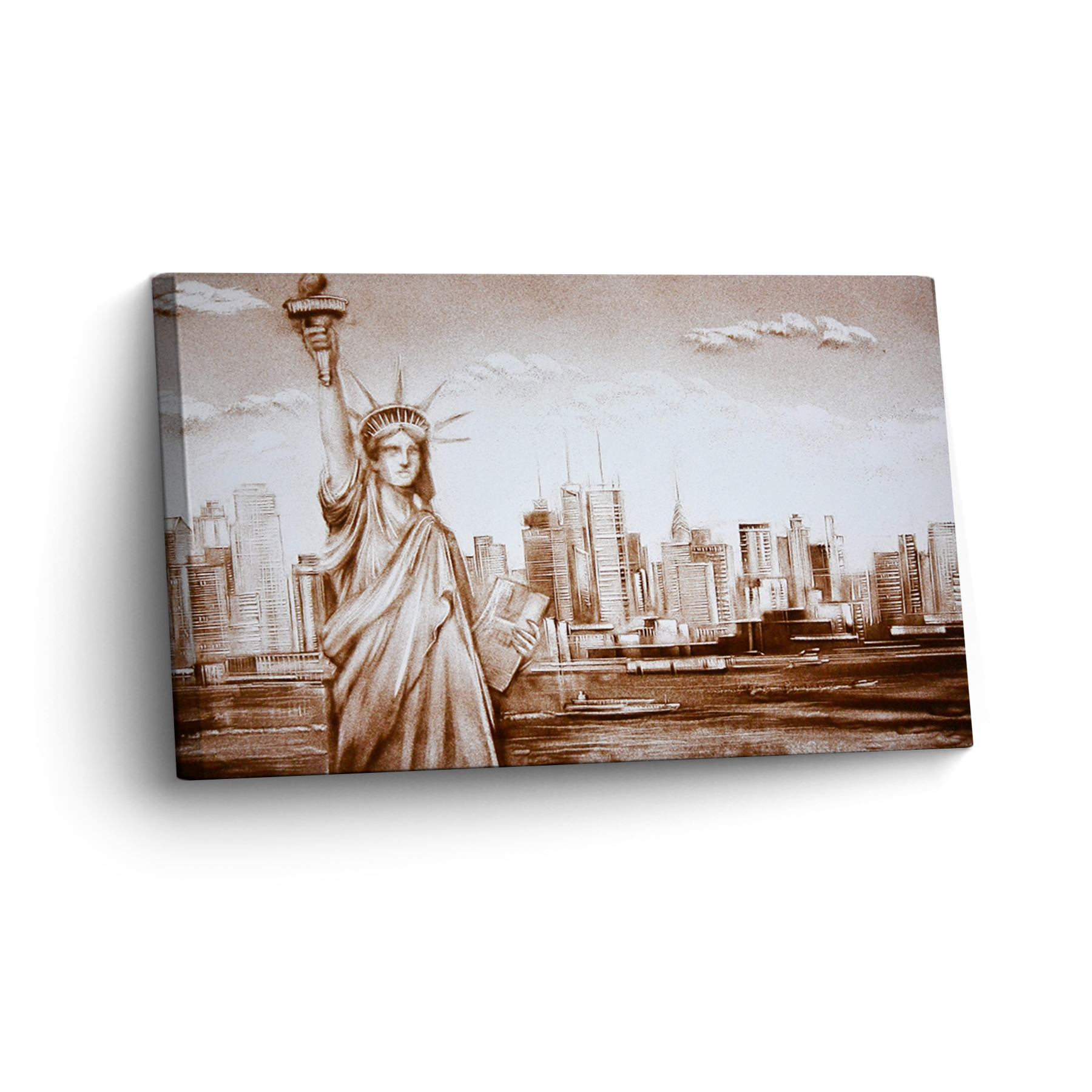 New York in Sand Gemalt