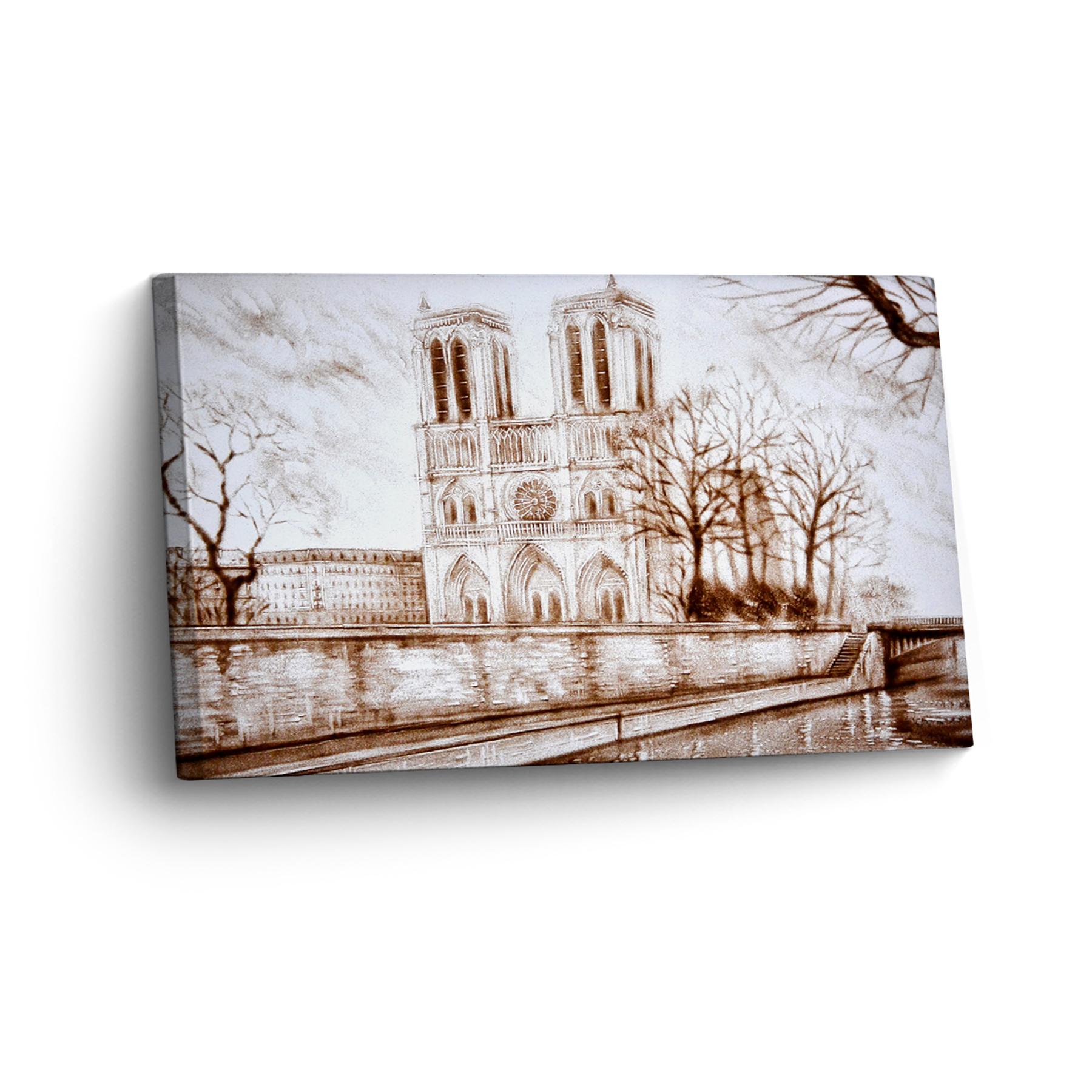 Paris in Sand Gemalt