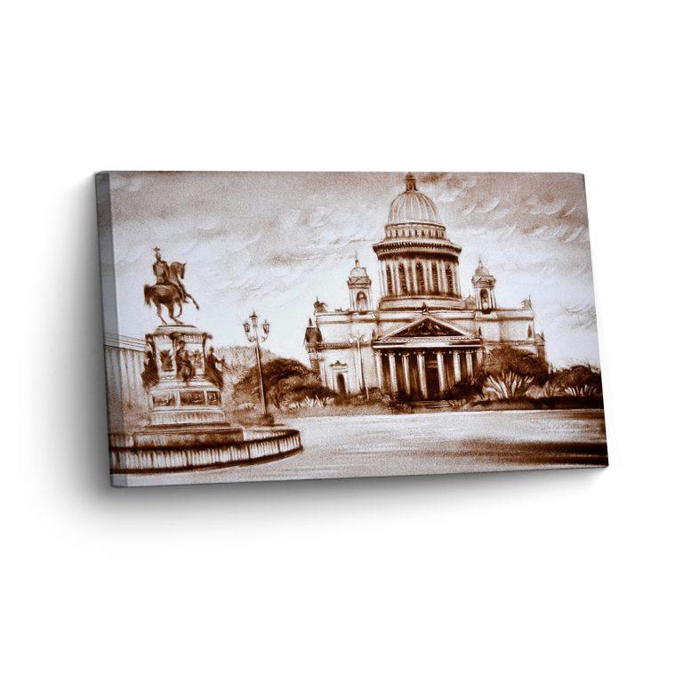 Sankt-Petersburg in Sand Gemalt